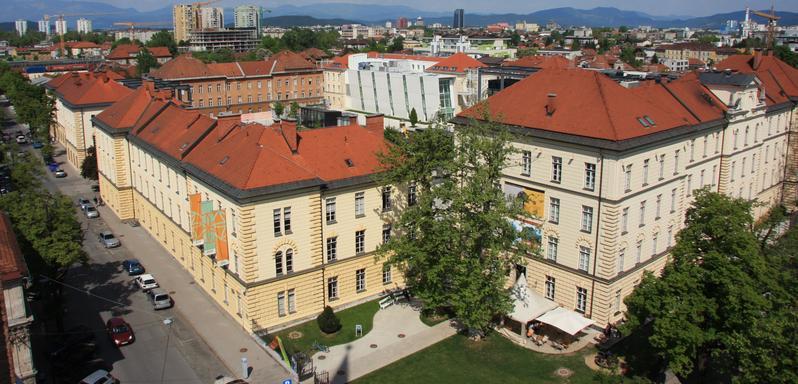 Pogled na muzejsko četrt iz zraka