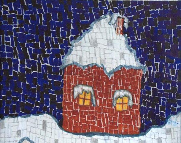 Slika z razstave Malus Breda: Življenje v kockah