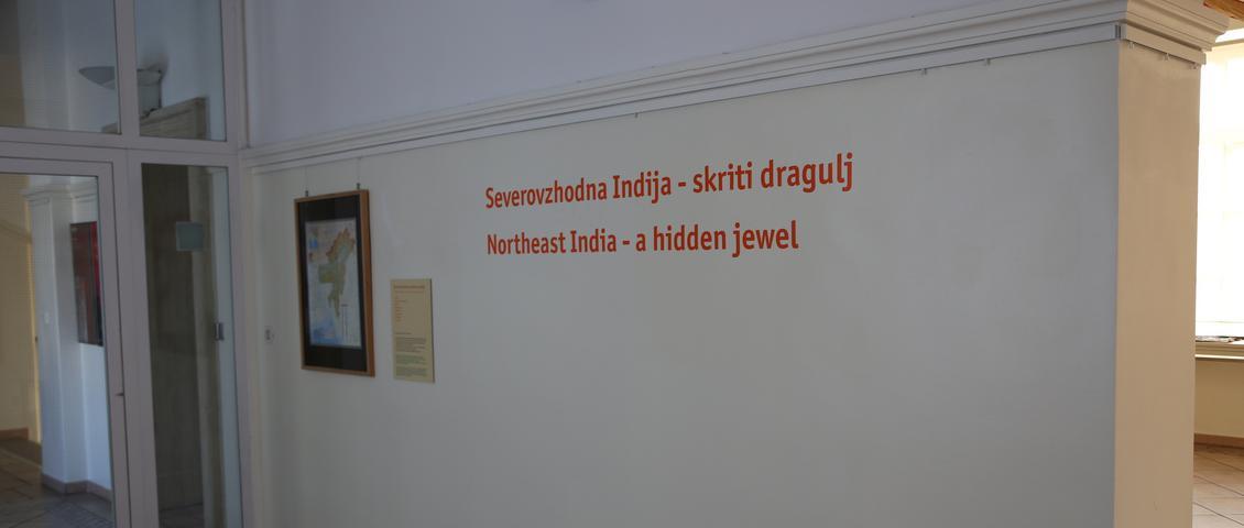 Pogled na postavitev razstave Severovzhodna Indija