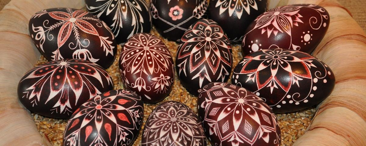 Hungarian decorated eggs from Prekmurje