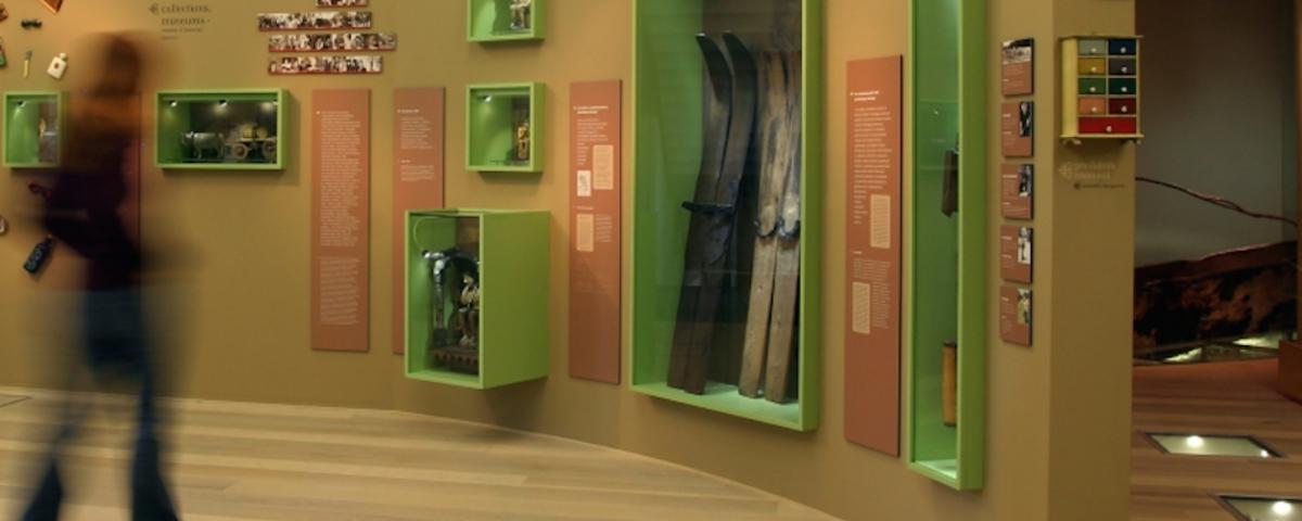 Pogled na uvodni del razstave Med naravo in kulturo