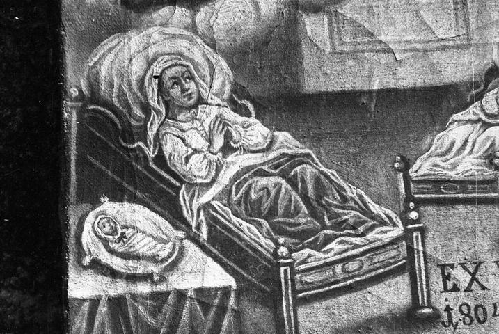Detajl slike Ex voto 1804, Vesela Gora.
