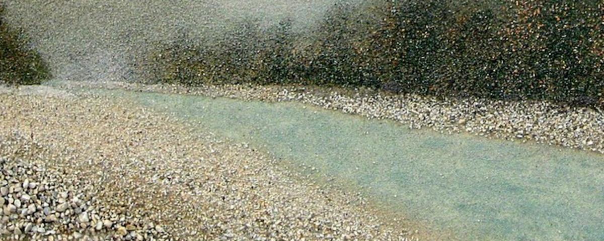 Slika iz razstave Ko v pesku lebdijo zgodbe