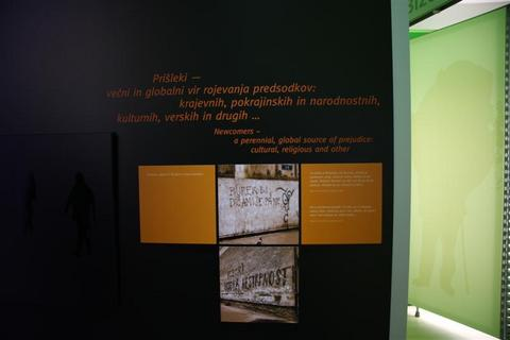 Muzejska postavitev na razdelku Čez meje domačega kraja - moja odhajanja