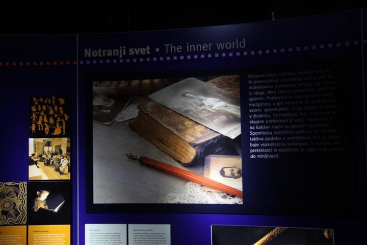 Muzejska postavitev na razdelku Jaz - moj osebni svet