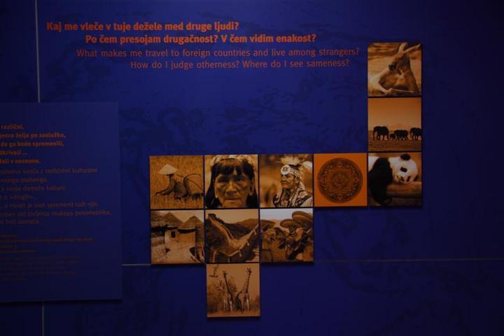 Detalj iz muzejske postavitve na razdelku Moja ali tuja drugačnost - širni svet