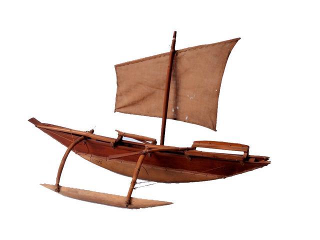 Maketa čolna z otoka Fidži