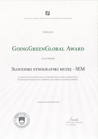 GoingGreenBlobal Award